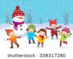illustration of kids playing... | Shutterstock .eps vector #338317280