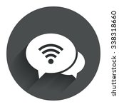 chat speech bubbles. wifi sign. ...