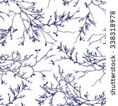 Navy Tree Branches Seamless...