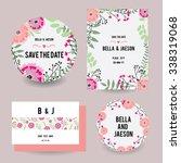 wedding invitation  thank you... | Shutterstock .eps vector #338319068