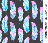 seamless pattern with isolated... | Shutterstock . vector #338324810