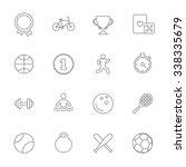 winners and sport icons. winner ... | Shutterstock . vector #338335679