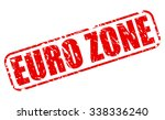 euro zone red stamp text on... | Shutterstock .eps vector #338336240
