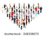 workforce concept isolated over ... | Shutterstock . vector #338338073