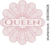 Queen Written With Chalkboard...