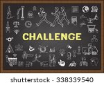 challenge. chart with keywords... | Shutterstock .eps vector #338339540