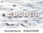 winter background with...   Shutterstock . vector #338341898