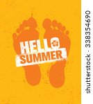 hello summer. bright creative... | Shutterstock .eps vector #338354690