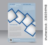 flyer template. brochure design.... | Shutterstock .eps vector #338354948