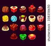 candies vector set  cute sweet...