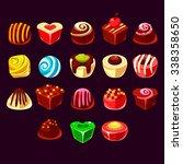 candies vector set  cute sweet...