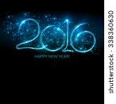2016 new year made a sparkler.... | Shutterstock . vector #338360630