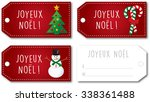french christmas gift tag set... | Shutterstock .eps vector #338361488