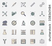 biotechnology icons   vector... | Shutterstock .eps vector #338365484