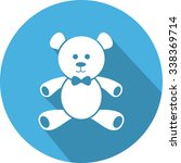 Teddy Bear Flat Icon Design.