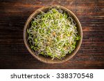 Top View Of Fresh Sprouts In...
