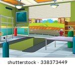 cartoon background   garage  ... | Shutterstock . vector #338373449