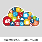 social media design with... | Shutterstock .eps vector #338374238
