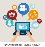 social media design with... | Shutterstock .eps vector #338375324