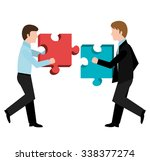 business solutions and teamwork ... | Shutterstock .eps vector #338377274