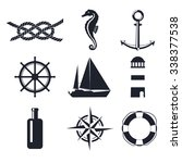 vector naval badge element set. ... | Shutterstock .eps vector #338377538