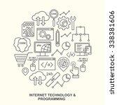 internet technology and... | Shutterstock .eps vector #338381606