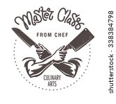 master class from chef. male... | Shutterstock .eps vector #338384798