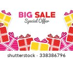 shopping big sales offers... | Shutterstock .eps vector #338386796