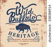 vintage western label design... | Shutterstock .eps vector #338388914