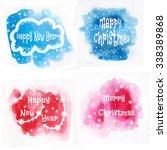 watercolor spots... | Shutterstock . vector #338389868