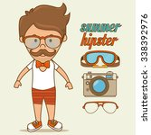 summer  travel and vacations... | Shutterstock .eps vector #338392976