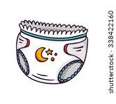 baby diaper  bright vector... | Shutterstock .eps vector #338422160
