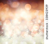 glowing christmas background | Shutterstock . vector #338423939