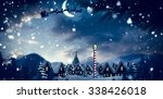 santa delivery presents to... | Shutterstock . vector #338426018
