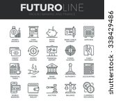modern thin line icons set of... | Shutterstock .eps vector #338429486