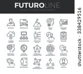 modern thin line icons set of... | Shutterstock .eps vector #338429516