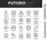 modern thin line icons set of... | Shutterstock .eps vector #338430170