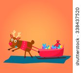 christmas deer characters and... | Shutterstock .eps vector #338437520