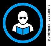 student reading book vector... | Shutterstock .eps vector #338438543