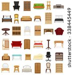 set icons furniture vector... | Shutterstock .eps vector #338445449
