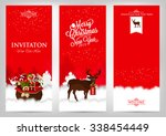 merry christmas and happy new... | Shutterstock .eps vector #338454449
