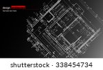 abstract architectural... | Shutterstock .eps vector #338454734