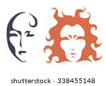 the stylized image of a human... | Shutterstock .eps vector #338455148
