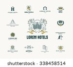 vector set of hotel and resort... | Shutterstock .eps vector #338458514