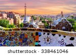 sunrise parc guell designed by... | Shutterstock . vector #338461046