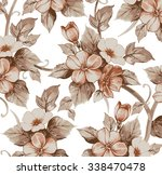flowers of apple. drawing ... | Shutterstock .eps vector #338470478