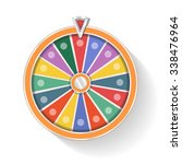 colorful wheel of fortune vector | Shutterstock .eps vector #338476964