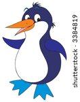 antarctic penguin | Shutterstock .eps vector #3384819