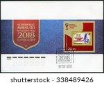 russia   circa 2015  a stamp... | Shutterstock . vector #338489426