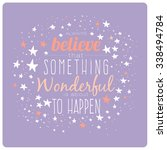 greeting typography design card ... | Shutterstock .eps vector #338494784